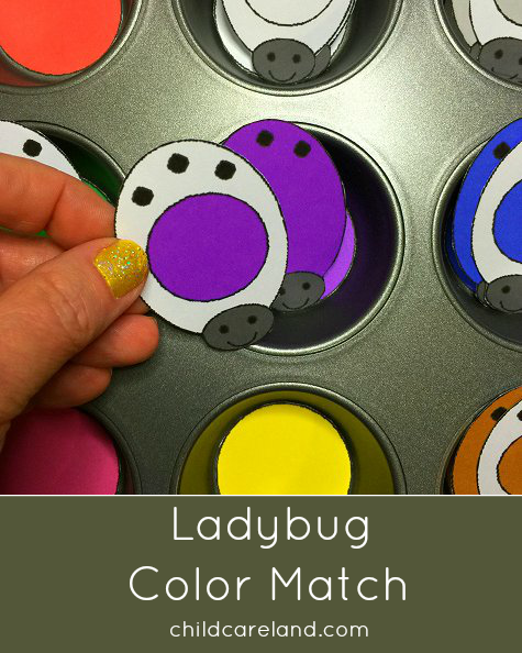 Ladybug Color Match For Toddlers and Preschool