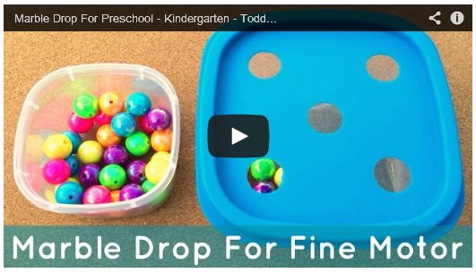 Marble Drop Preschool Fine Motor Activity