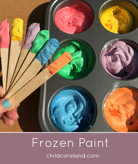 Easy To Make Frozen Paint