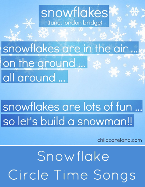 Snowflake Circle Time Songs For Preschool and Kindergarten