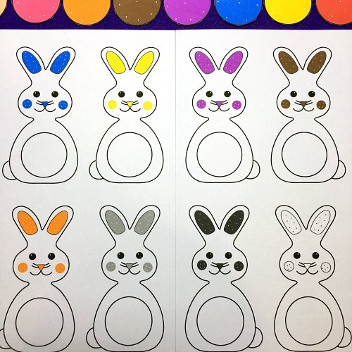 bunny color file folder game for preschool and kindergarten - Coloring Games For Preschoolers