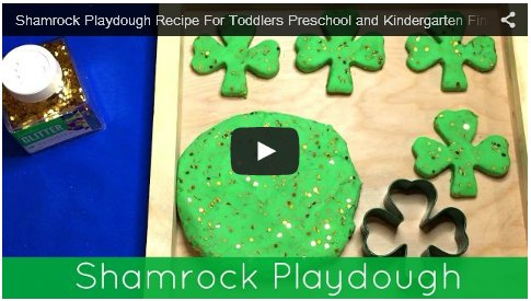 Shamrock Playdough For Toddlers Preschool Kindergarten Fine Motor Development