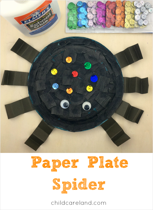 paper plate spider craft for toddlers and preschool  sc 1 st  Childcareland & Paper Plate Spider