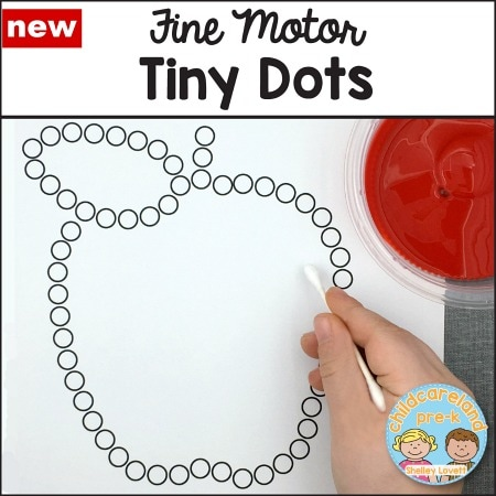 fine motor tiny dots download for preschool and kindergarten
