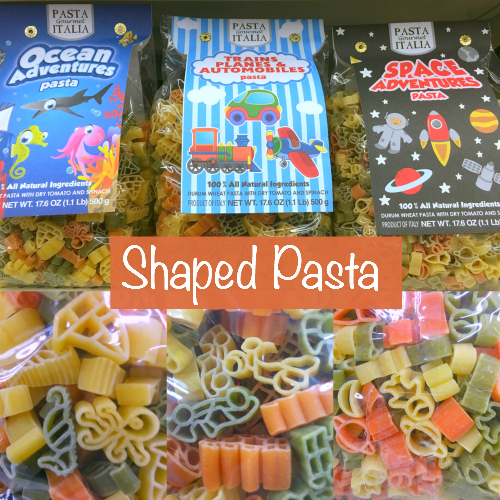 shaped pasta that can be used in preschool and kindergarten