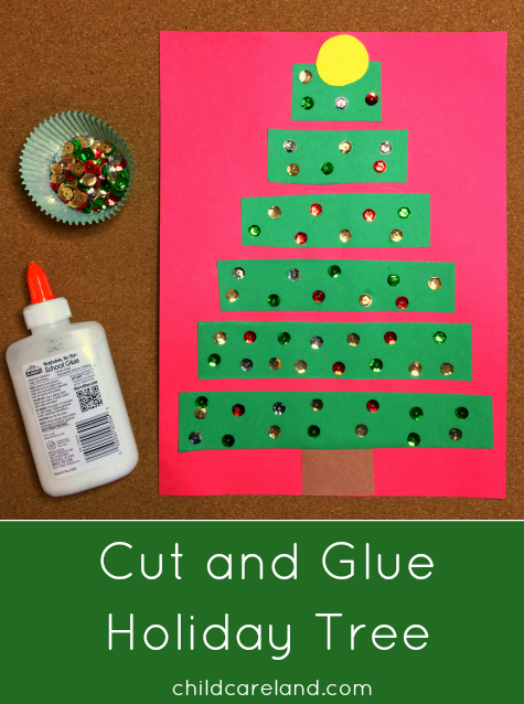 christmas preschool craft ideas cut and glue tree 3640