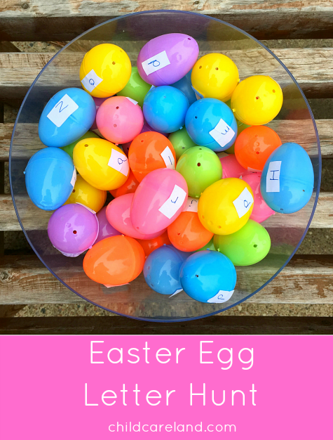 Easter Egg Letter Hunt For Preschool and Kindergarten