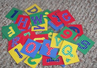 Letter and Number Lacing Tags