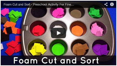 Foam Cut and Sort Preschool Activity