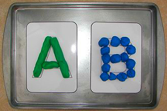Playdough Alphabet Cards