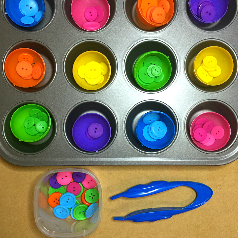 Egg Color Match Preschool Fine Motor Activity