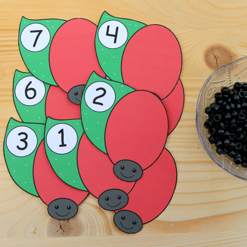 ladybug math for preschool and kindergarten