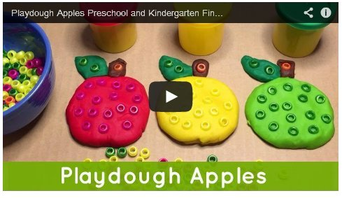 Playdough Apples