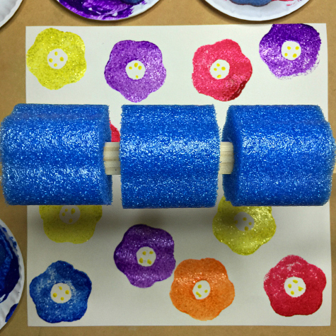 Pool Noodle Flower Prints Art Project For Preschool and Kindergarten