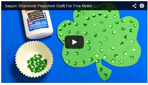Sequin Shamrock Art and Fine Motor Project For Preschool and Kindergarten