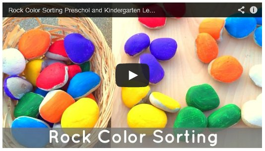 Color Sorting Rocks Preschool Activity