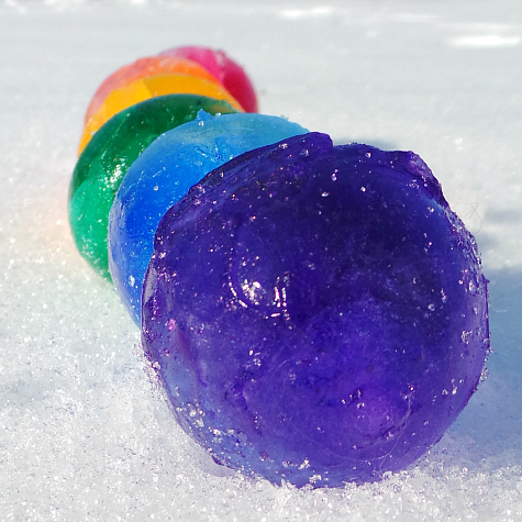 Colored Ice Balls Sorting and Sensory Activity for Preschool and Kindergarten