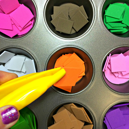 Foam Cut and Cover Preschool Activity