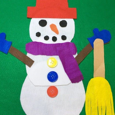 build a snowman with toddlers and preschoolers