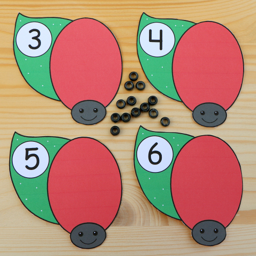 ladybug math for preschool and kindergaren