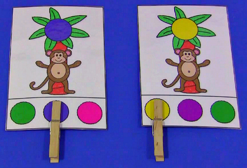 Chicka Chicka Boom Boom Color Clothespin Cards Preschool and Kindergarten Activity