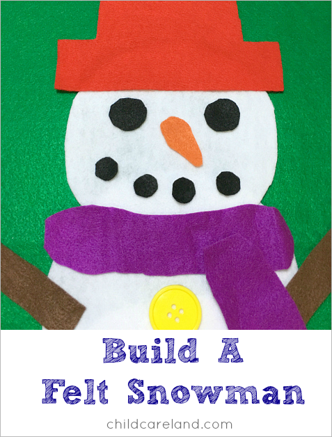build a felt snowman with toddlers and preschoolers