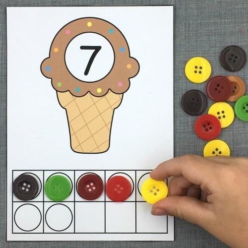 ten frames early math for preschool and kindergarten