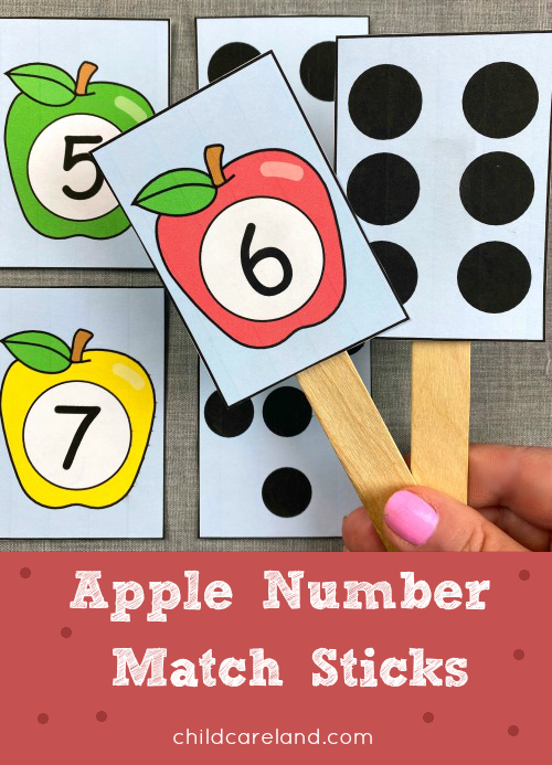 Apple Number Match Sticks