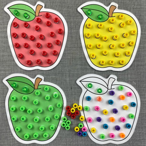 apple fine motor dots for preschool and kindergarten