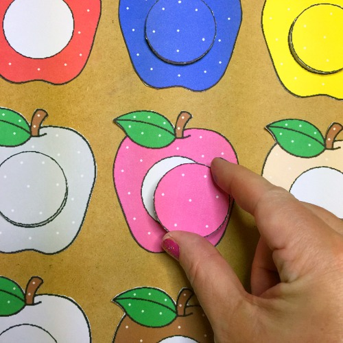 apple color match for preschool and kindergarten