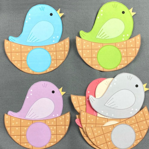 spring bird color match for preschool and kindergarten