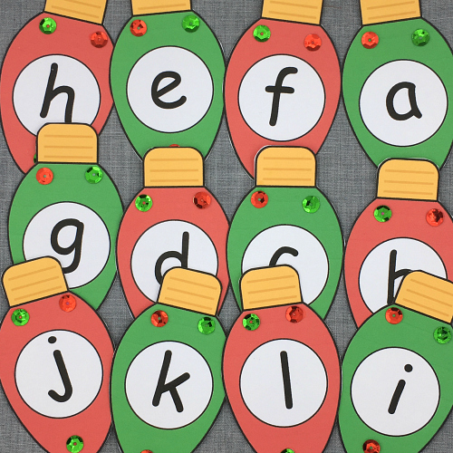 christmas alphabet sequence for preschool and kindergarten