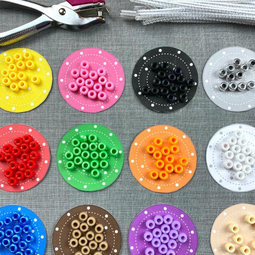 bead stringing color match for preschool and kindergarten. also a great fine motor activity.