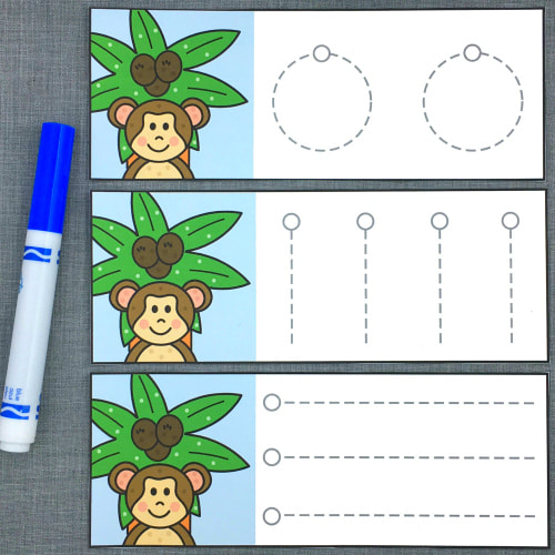 chicka chicka boom boom pre-writing cards for preschool and kindergarten