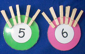 clothespin counting for preschool and kindergarten