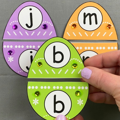 egg alphabet puzzles for preschool and kindergarten