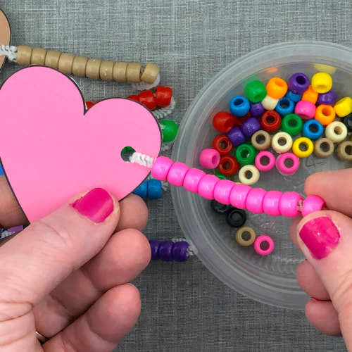 fine motor hearts lacing activity for preschool and kindergartn