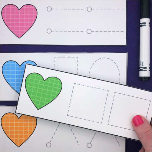 heart writing skills for preschool and kindergarten