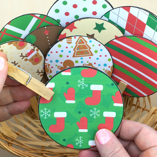 holiday pattern match for preschool and kindergarten