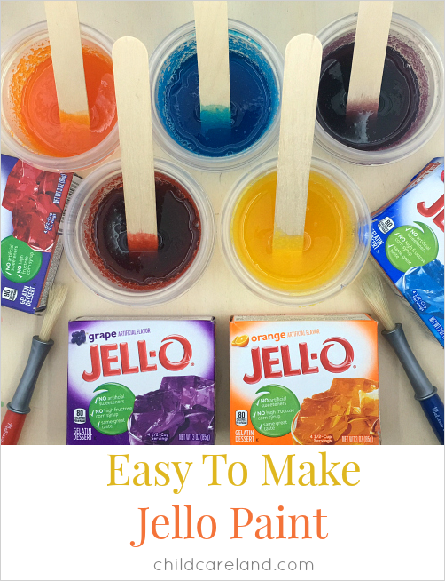 easy to make jello paint for preschool and kindergarten