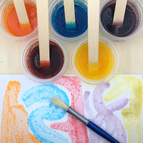 jello paint for preschool and kindergarten