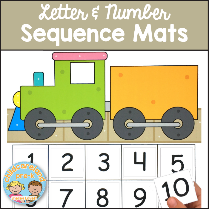 letter and number mats for preschool and kindergarten