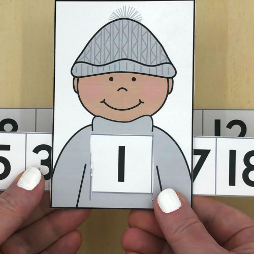 learning friends number match for preschool and kindergarten