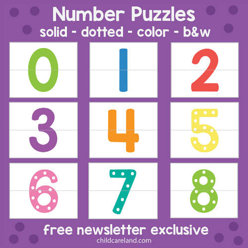 number puzzles for preschool and kindergarten