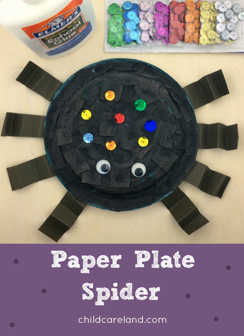 paper plate spider craft for toddlers and preschool