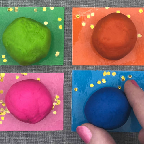 playdough color match for preschool and kindergarten