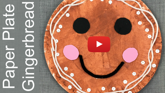 paper plate gingerbread craft for preschool kindergarten
