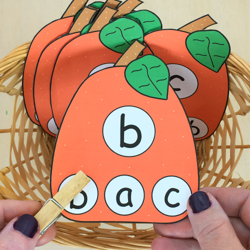 pumpkin alphabet clip for preschool and kindergarten