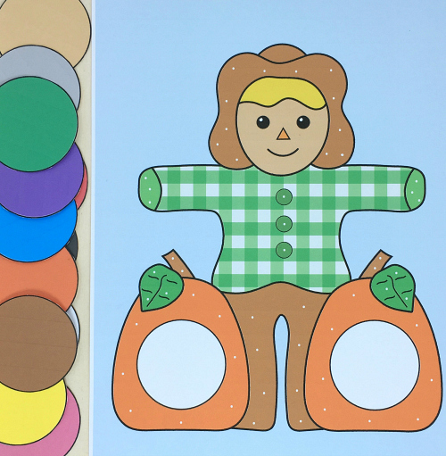 scarecrow color and pattern match for preschool and kindergarten