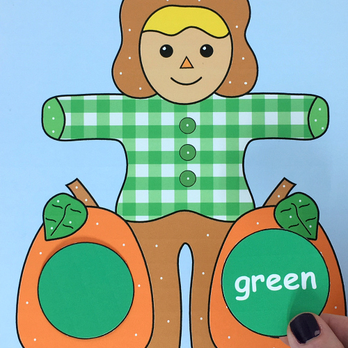 scarecrow color and pattern match preschool and kindergarten